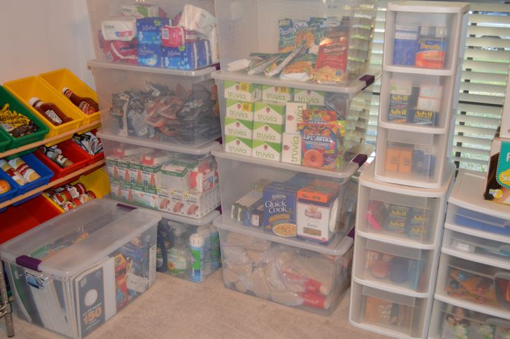 Why you should have a stockpile & organize it!