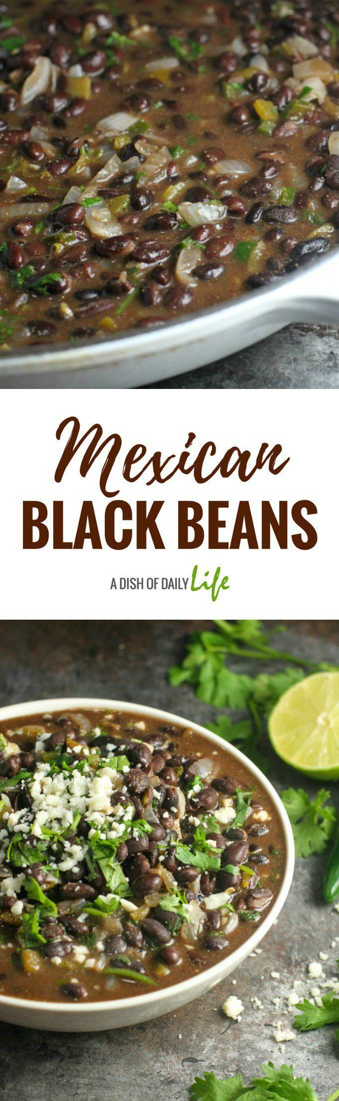 Easy and delicious, these restaurant quality Mexican black beans take almost no time to make! They're the perfect side dish for Mexican night! #Mexican #CincodeMayo #blackbeans