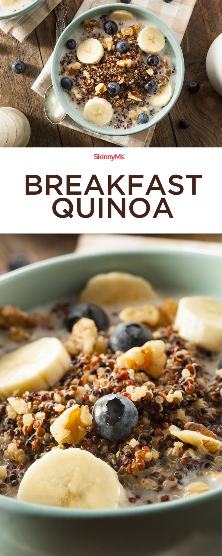 Deliciously sweet and savory, this Breakfast Quinoa recipe has you cooking quinoa in your choice of milk with a drizzle of honey.