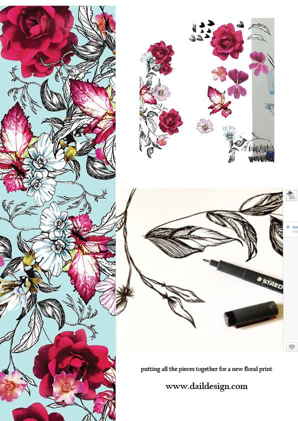 88 best Unfinished Florals images on Pinterest Print patterns