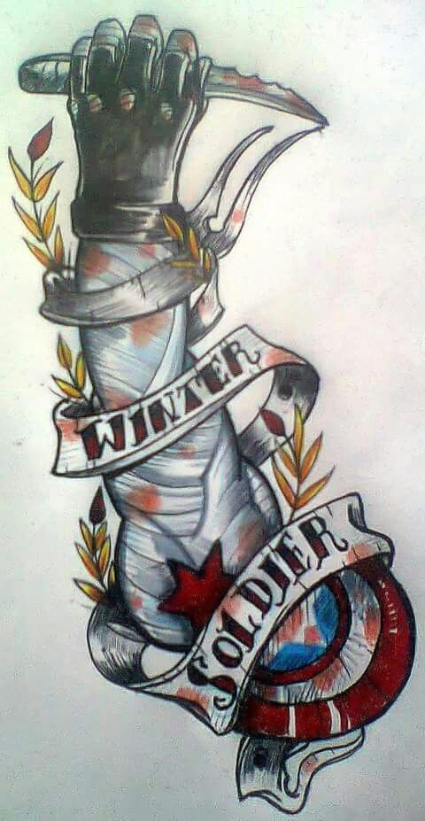 Winter soldier dibujo drawing tatto