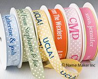 Personalized Ribbon, Custom Ribbons, Favor Ribbons,Personalized Gift Ribbon from NameMaker is perfect for any occasion.