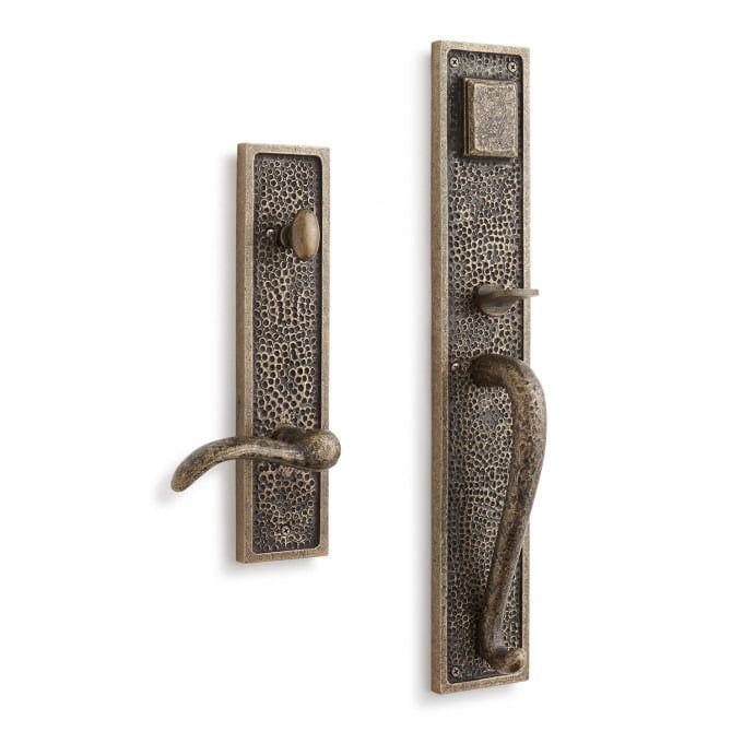 Traeger Solid Brass Entrance Set With Lever Handle Signature Hardware Exterior Door Hardware Entry Door Handles