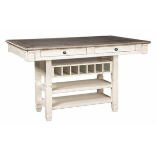 shop for signature design by ashley bolanburg two tone rectangular dining room counter table