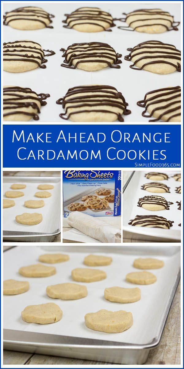 Make Ahead Orange Cardamom Cookies | To be, Simple and Orange