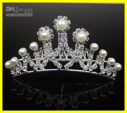 $6.81 Wholesale Tiaras & Hair Accessories - Buy Hot Selling 2012 Alloy Shining Crown Crystals Pearls Royal Classical Wedding Bride Tiaras 18-007, $5.65 | DHgate