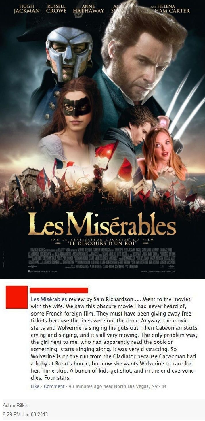 ideas about les miserables review les les mis this is not what happens you uncultured swine