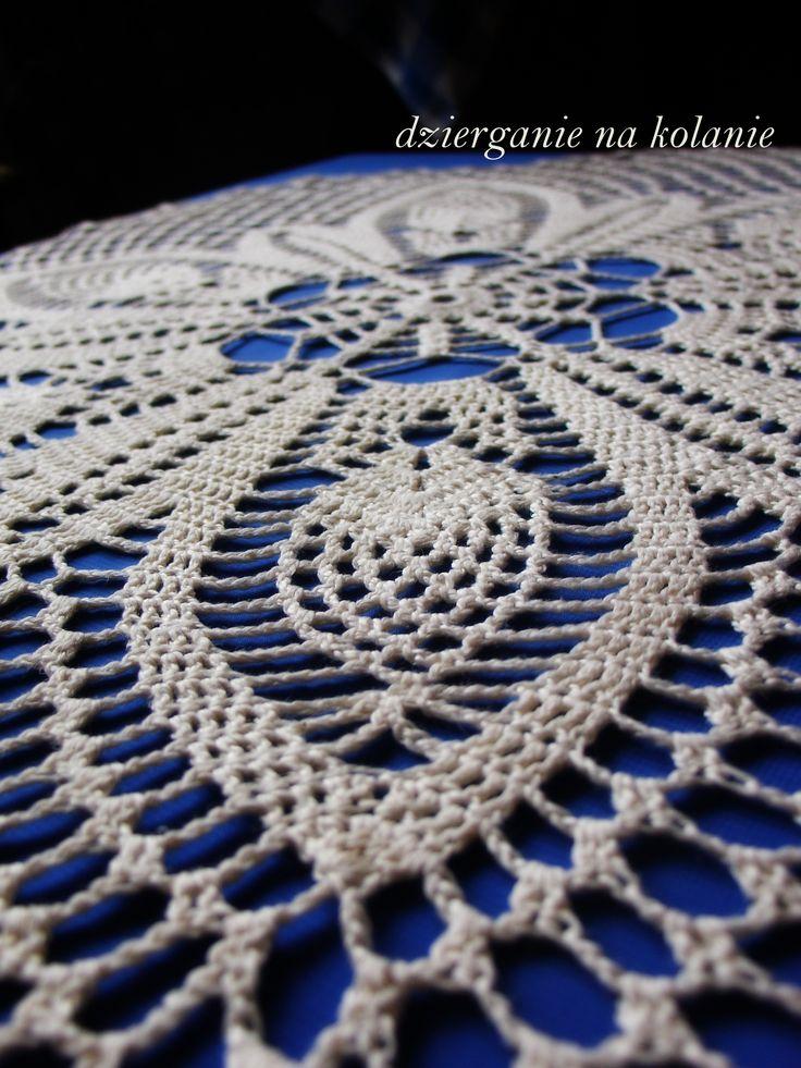Serweta ecru średnica 60 cm / Crocheted Doily https://www.facebook.com/dzierganienakolanie?ref=hl