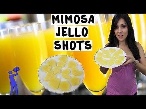 Mimosa Jello Shots - Tipsy Bartender - YouTube