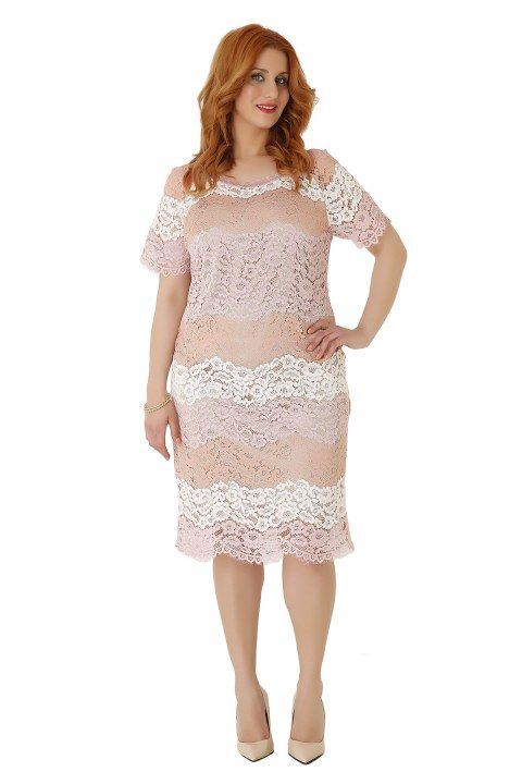 Midi romantic lace dress. It perfectly embraces the body while the pencil line flatters your figure! Wear it with high heels and impress! Available in 2 pastel colours.