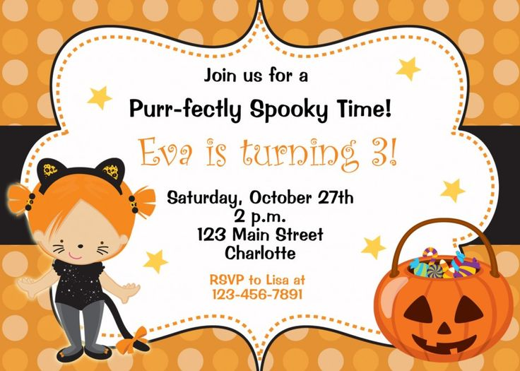 47 best Fun Invitation Ideas for Childrens Parties images on – Kids Halloween Party Invites