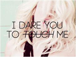 Shakira - Dare (La La La) #Shakira #gif #blonde 'I dare you to touch me'