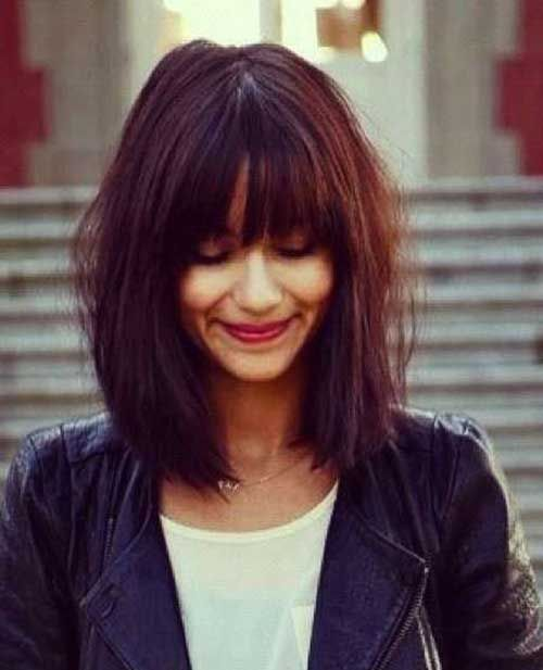 Sensational 1000 Ideas About Long Bob With Bangs On Pinterest Bob With Hairstyles For Women Draintrainus