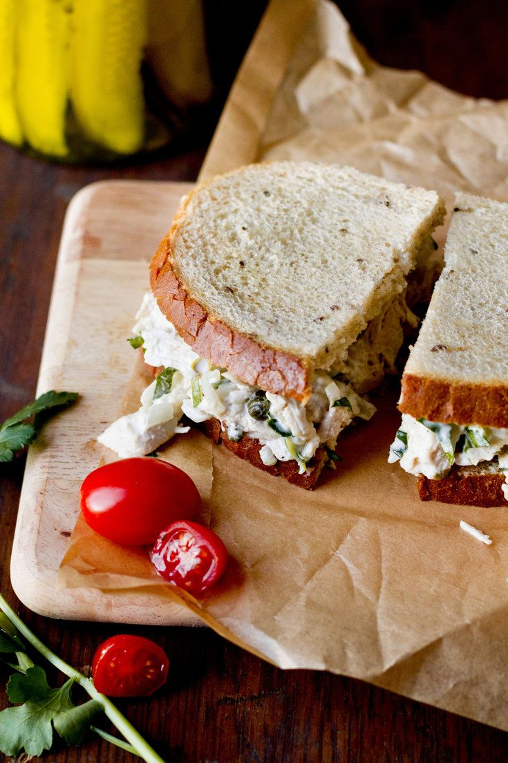 Originally printed in 1981, here is Craig Claiborne's take on the classic chicken salad sandwich In his version, a combination of mayonnaise (preferably homemade) and yogurt is used which yields a lighter, tangier sandwich filling. He calls for using poached chicken, but the leftover roast chicken from last night would work beautifully as well. (Photo: Rikki Snyder for The New York Times)