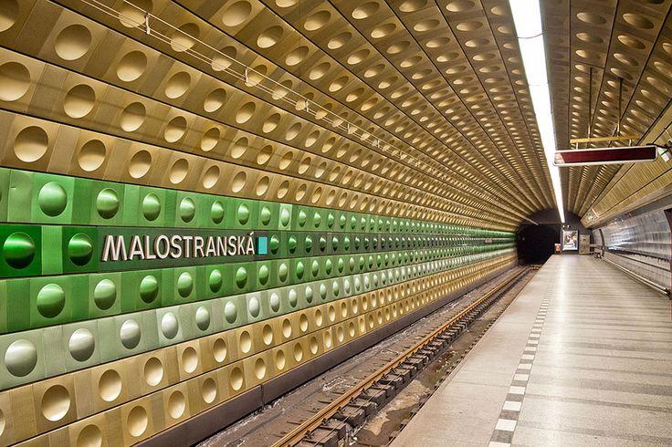 Malostranská subway station in Prague