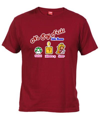 Camiseta Salud Dinero y Amor Friki - Cachondas - Fanisetas.Com // No soy geek