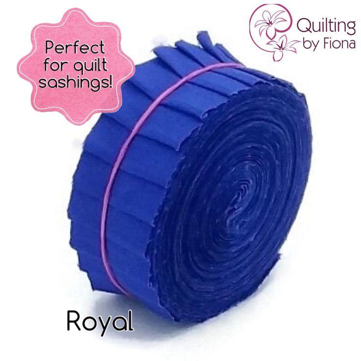 A personal favourite from my Etsy shop https://www.etsy.com/listing/231383460/20-royal-blue-precut-honey-bun-fabric