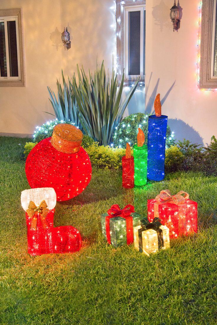 Pinta de colores tu navidad con figuras iluminadas.