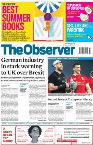 Newspaper headlines: Brexit blow or May's Trump card?