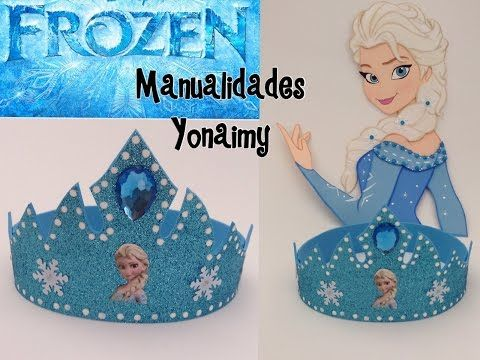 CORONA DE PRINCESA ELSA EN FOAMY O GOMA EVA .- ELSA'S CROWN - YouTube