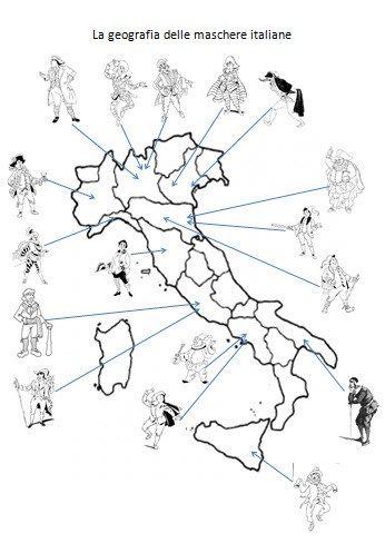 Le maschere di Carnevale della Commedia dell'Arte suddivise per regione - Maestro Alberto