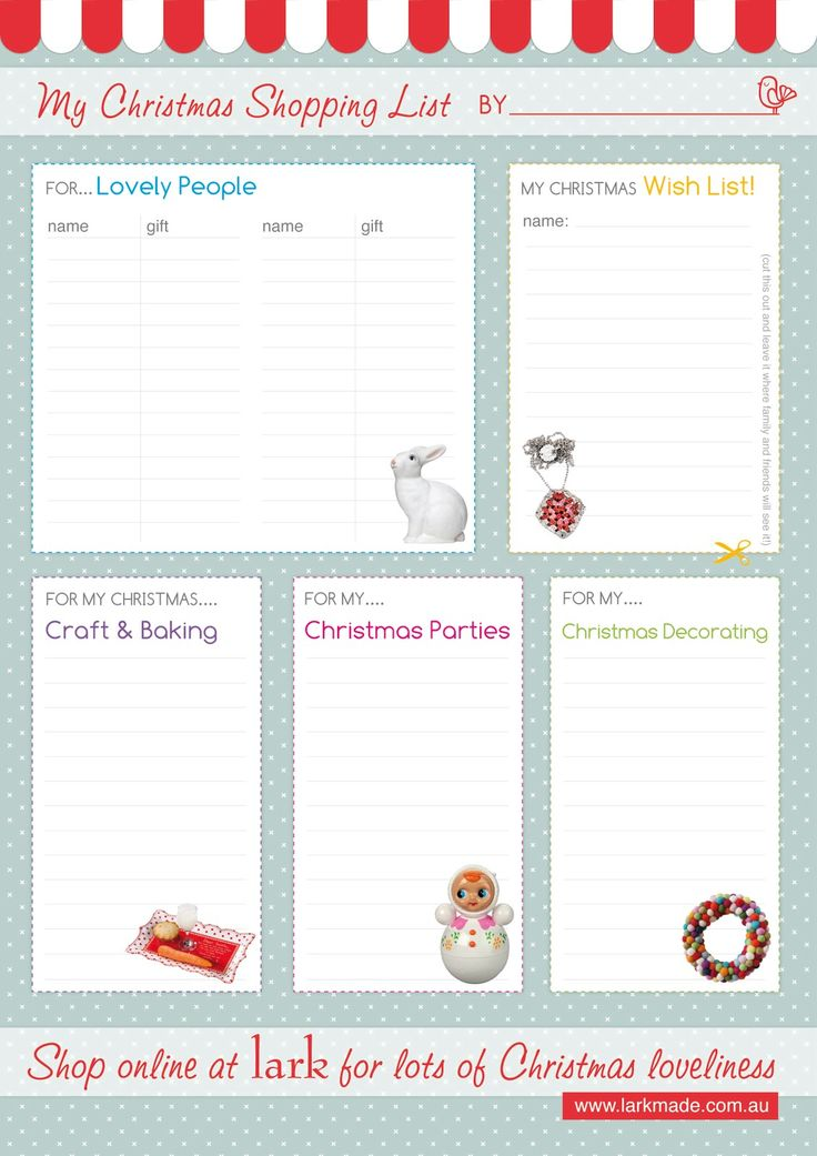 65 best Christmas Grocery List☑ images on Pinterest Christmas - free printable christmas wish list template