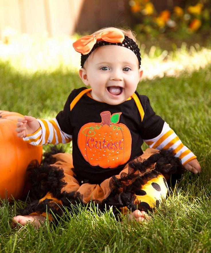 Baby girl vestiti di halloween cutest zucca nero arancio tuta tutu scaldino del piedino party dress 0-18 m(Hong Kong)