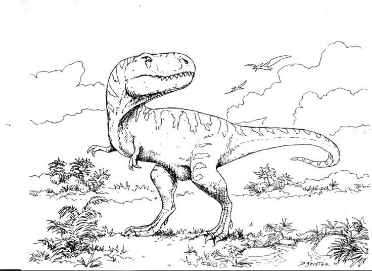 t-rex coloring book - Google Search | Dinosaur Room ...