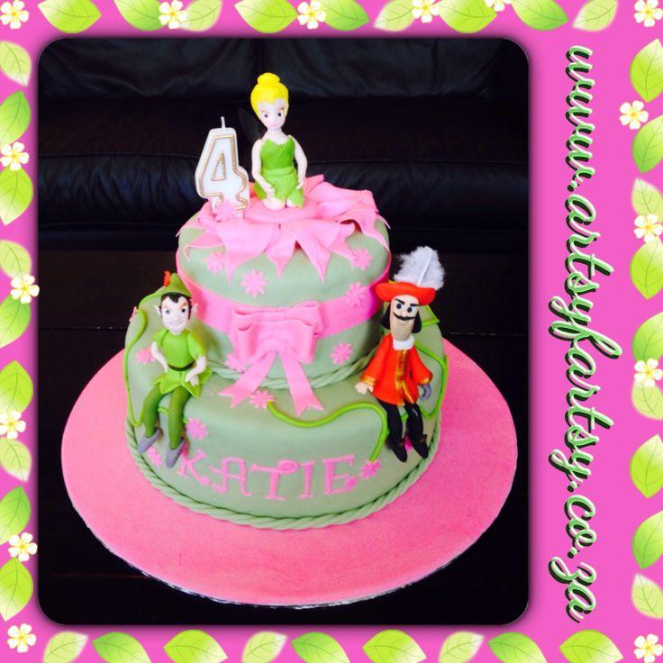 Tinkerbell, Peter Pan and Captain Hook Cake