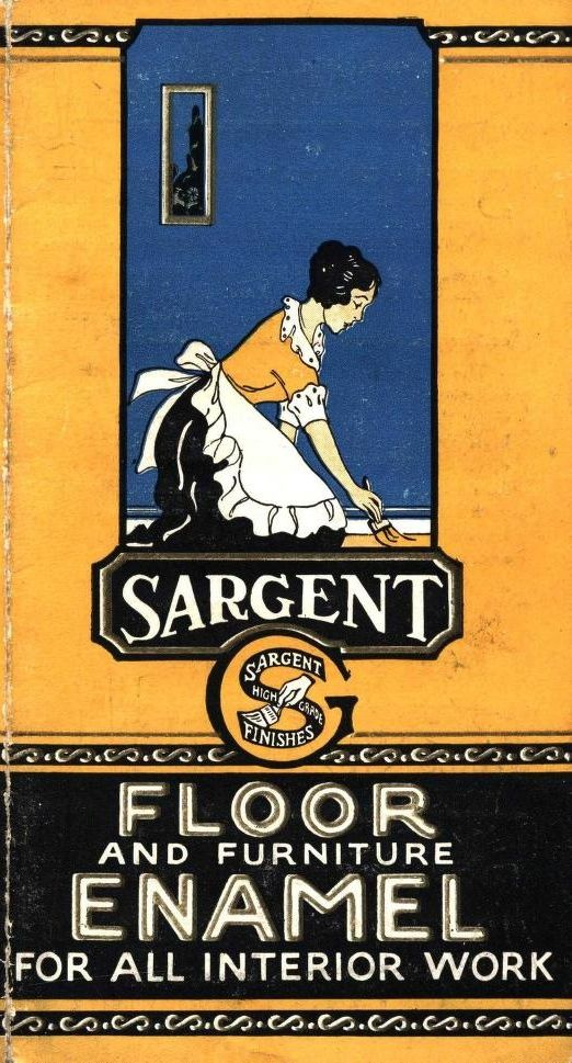 Sargent Floor Enamel, c. 1920.  From the Association for Preservation Technology (APT) - Building Technology Heritage Library, an online archive of period architectural trade catalogs. Select an era or material era and become an architectural time traveler. Original from Jablonski Building Conservation.
