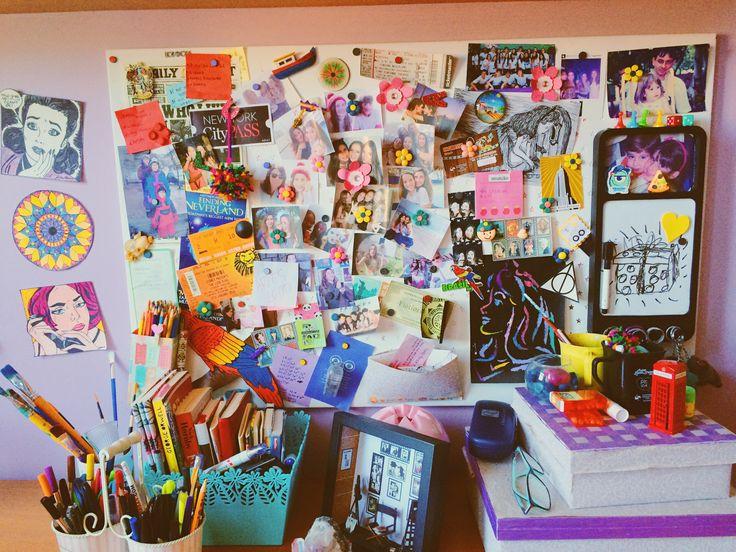 #quarto #quadro #fotos #adolescente #room #photos #friends