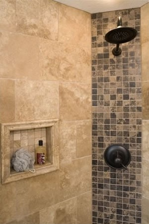 145 Best Images About Tile Designs Bathrooms On Pinterest Shower Tiles Drop In Tub And Custom