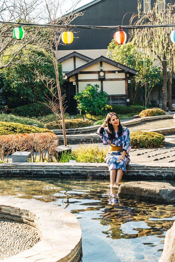 Wear a Traditional Japanese Yukata at Oedo Onsen M…