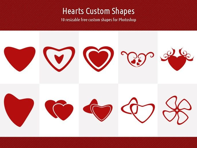 Free Hearts Custom Shapes