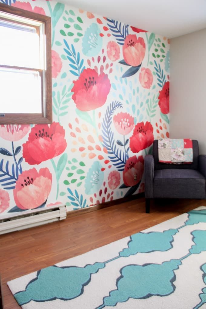 Modern Floral Wallpaper Floral Wallpaper Bedroom Modern Floral Wallpaper Girls Bedroom Mural