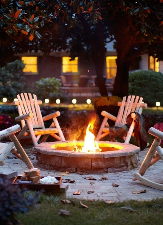 A fire pit | 22 Weird And Wonderful Features You'll Wish You Had In Your Garden