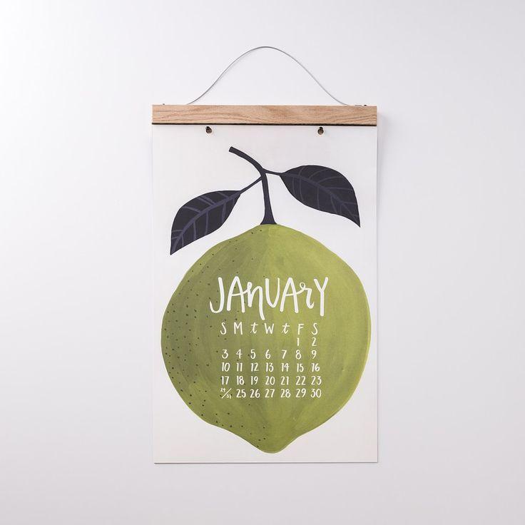 50% Off Sale | Oversized Produce Wall Calendar | 2016 Calendars