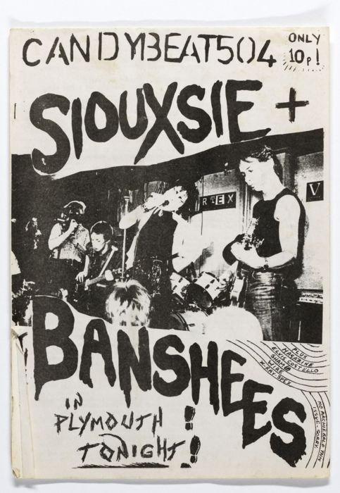 Candybeat 504, 1977. This fanzine features Siouxsie and the Banshees concert in Plymouth with stories about Elvis Costello, Sham 69, Wire and X-Ray Spex.