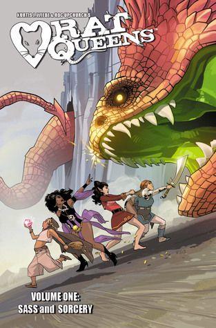 Rat Queens, Vol. 1: Sass & Sorcery (Rat Queens #1) by Kurtis J. Wiebe & Roc Upchurch #sequentialart #fantasy #graphicnovel #rpg