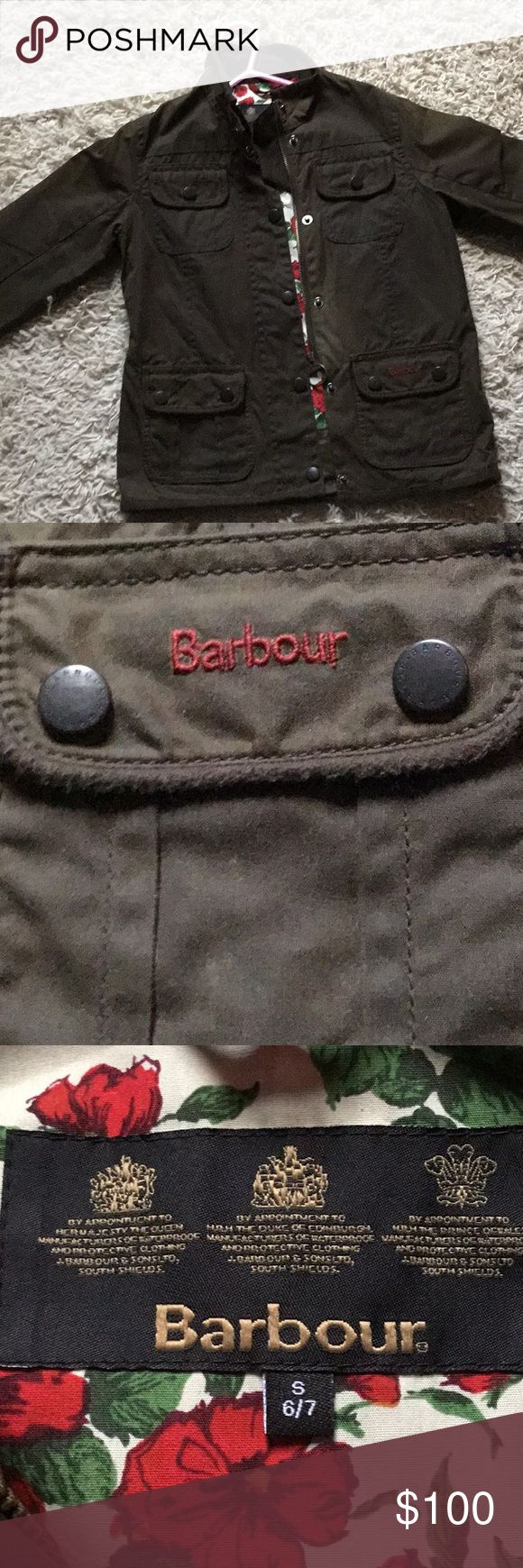 Barbour waxed cotton jacket Cute girls Barbour jacket. Great condition. Smoke free. Pet free home. Barbour Jackets & Coats Blazers