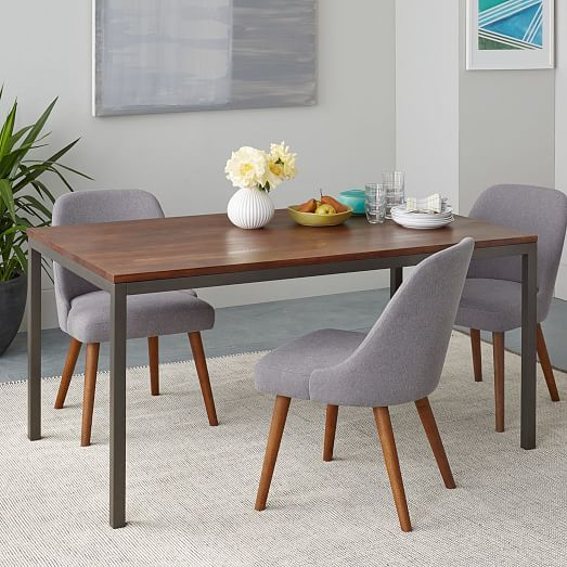 Box Frame Dining Table Wood West Elm Apartment