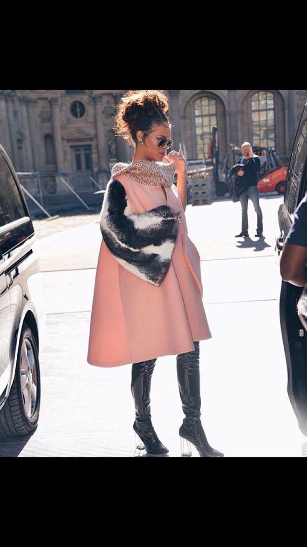 Rihanna Winter Fashion F E N T Y Pinterest Winter