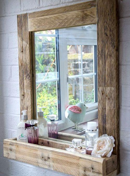 specchio da bagno stile vintage costruito interamente in legno dal design originale il suo stile un