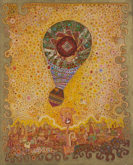 Juan Romero.One way baloon, 1978.  Acrílico sobre lienzo 100 x 81 cm