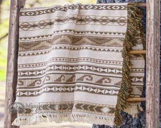 Southwestern Throw Blanket -Zapoteca Taupe (st45)