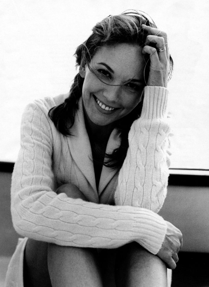 Diane Lane. So classic.. use this pose for boudoir, loose knit sweater off the shoulder.. lv