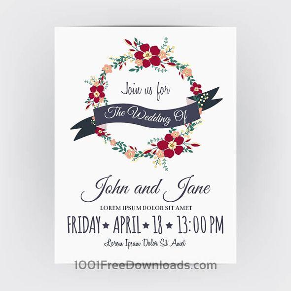 Бесплатные свадебные приглашения