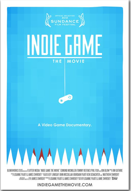 Interesting documentary about indie game makers. These guys have the same creative spirit as indie musicians.