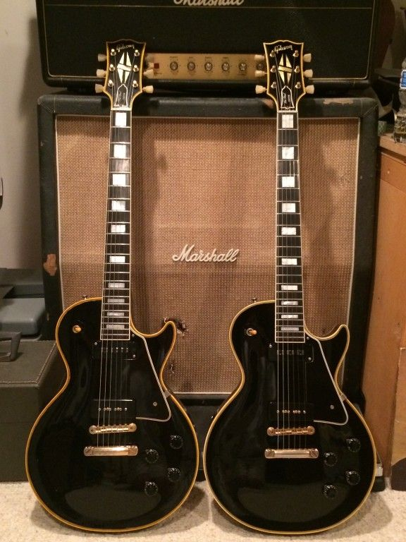 Gibson Les Paul Custom Black Beauties - 1956 and 1957. MS