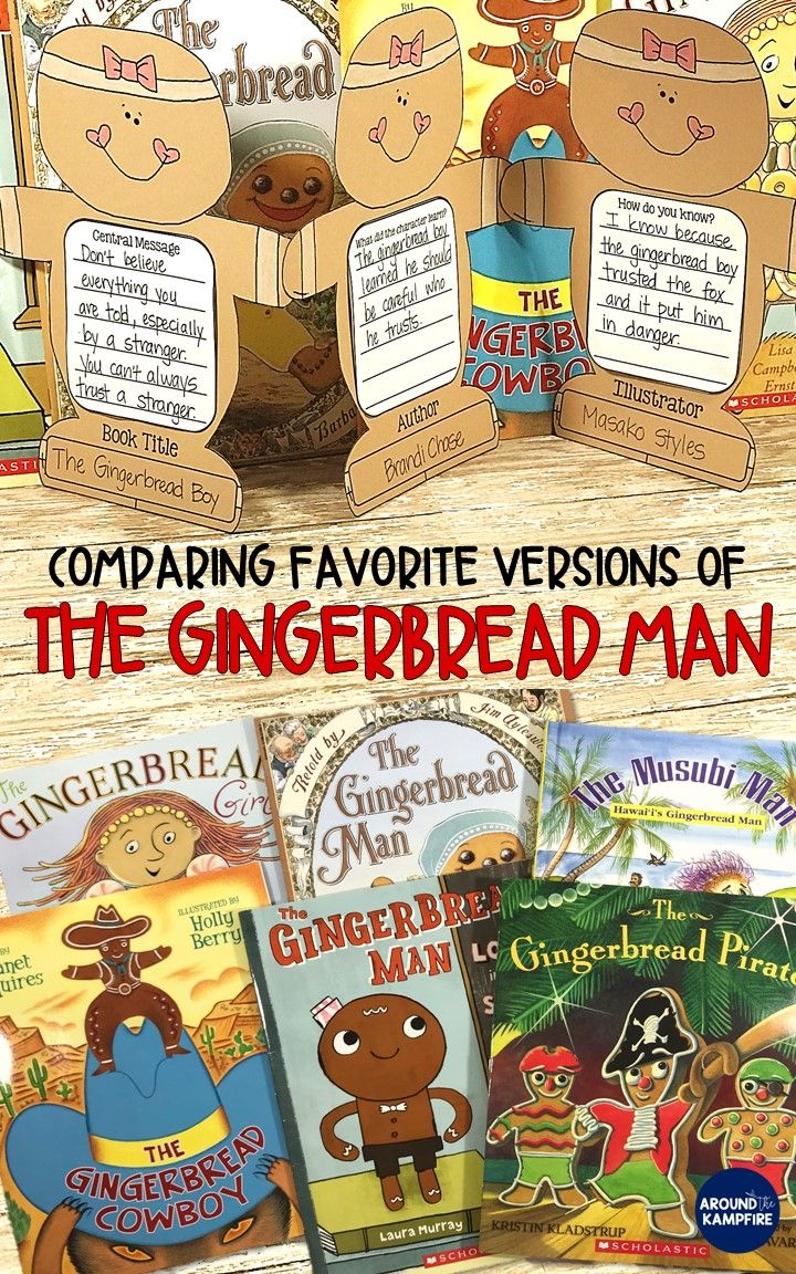 Comparing favorite versions of The Gingerbread Man: Lots of close reading lesson and anchor chart ideas for getting kids to think while they read. Ideal for first and second graders while reading and comparing versions of The Gingerbread Man. This post also has free printable story elements charts ideal to add to your gingerbread activities for 1st, 2nd, or 3rd grade.